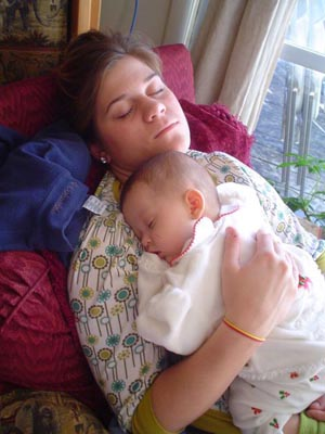 Jezebel asleep with her cousin Ann Peyton