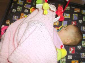 Jezebel sleeps legs-up